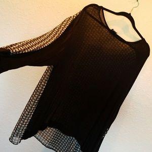 Bobeau 2X see through blouse